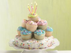 Stacked cupcakes cake