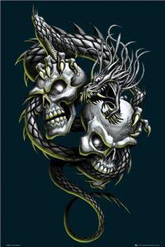 Death Meets Prejuduce Skull