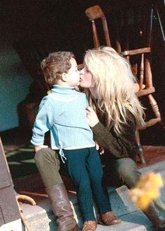 1970 - BB avec son fils Nicolas Charrier