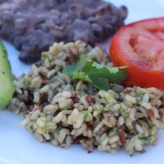 Cilantro Rice & Refried Beans - Food Heaven Made Easy