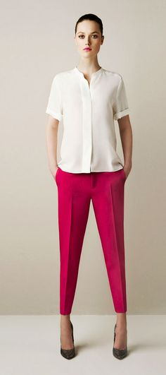 I love the cut of these pants, and this shirt seems like it would go well from day to night.