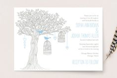 """Love Let Loose"" - Whimsical & Funny Wedding Invitations in Seaglass by Paisley Tree Press."