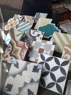 New Encaustic Tile Window Display at Cotton Tree Interiors Studio