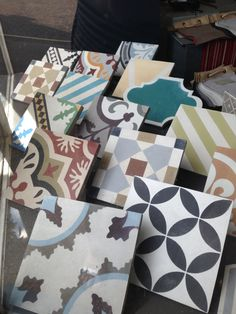 New Encaustic Tile Window Display at Cotton Tree Interiors Studio
