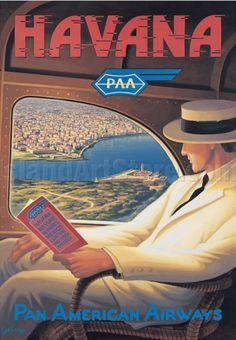 Havana • PAA • Pan American Airways ~ Kerne Erickson