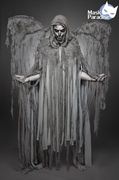 Angel of Death Kostüm Gothic Fasching Karneval Herren Verkleidung Halloween Men