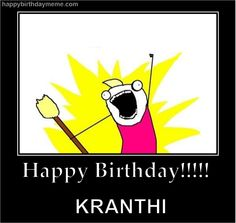 Kranthi's b'day.. Creepers, Pikachu, Happy Birthday, Batman, Superhero, Memes, Funny, Fictional Characters, Image