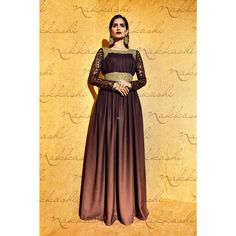 Brown Georgette Festival #Anarkali Suits With Dupatta- $69.08