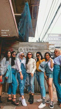 24 Trendy style hijab remaja gendut hijab re Modern Hijab Fashion, Street Hijab Fashion, Muslim Fashion, Ootd Fashion, Trendy Fashion, Korean Fashion, Fashion Outfits, Trendy Style, Hijab Casual
