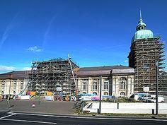 Seit mehreren Jahren eingerüstet: das Hessische Landesmuseum Darmstadt