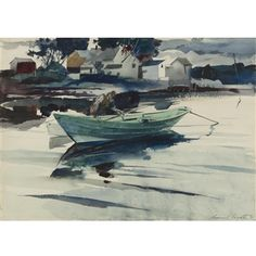 The Green Dory By Andrew Wyeth ,1940
