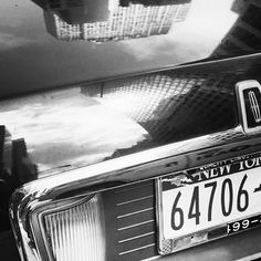 New York reflections by Donibane #newyork #america #buick #car #b&w #donibane