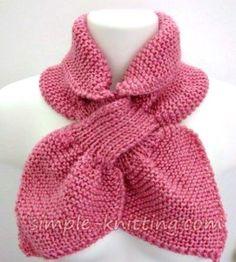 Easy knitting patterns - ascot scarf pattern. Easy Scarf Knitting Patterns, Easy Knitting Projects, Easy Knitting Patterns, Knitting For Kids, Double Knitting, Sewing Projects, Ascot, Quick Knits, Little Fashion