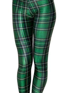 Yoglovers Yoga Pants Leggings Green Checks Printed Graphic Leggings Sexy 2016 Hot Style Butt Lift High Waist