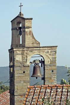 Church bells at top of Cortona, province of Arezzo, Tuscany - Italy