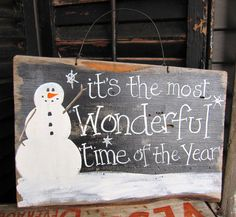 Primitive Snowman Sign Christmas Sign Prim by SweetLibertyBarn, $20.00