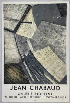 Chabaud, Galerie Riquelme, 1959 Exhibition Poster