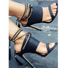 5767cea0d7b0 Gorgeous Black Tassle Sandals by taviapshoes - buy mens shoes