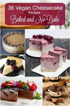 Vegan Cheesecake Recipes are a dream come true. They can be elegant or casual. A springform pan can be used as well as a muffin tin or a silicone shape or a baking sheet for bars. Fruity or chocolaty this dessert is easy to master and NOW is your chance. Take your choice - gluten-free, soy-free, nut-free and all are dairy-free. #Veganrecipes #vegancheesecake #dessert #glutenfree #nutfree #soyfree