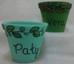 Vasos personalizados folhas