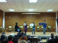 Paola, Hugo i Juanvi, alumnes de trombó d'Isabel García (21-3-2013)