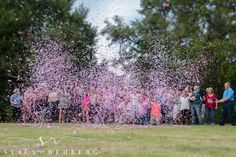 Confetti Popper Gender Reveal - Florida Photography - Stacy Rehberg Photography