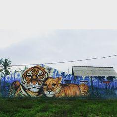 391 vind-ik-leuks, 10 reacties - WD street art - Wild Drawing (@wd_wilddrawing) op Instagram: 'Sold land#bali #streetartbali #wilddrawing #streetart #mural #graffiti #streetart #spraypaint #…'