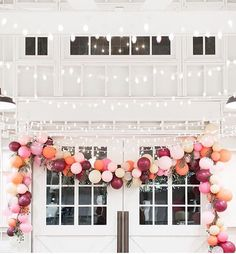 Love the color scheme of petal pink, tangerine, and burgundy.