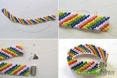 make the rest part of the handmade rainbow beaded bracelet