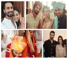 bollywood movies actor Shahid Kapoor weds with delhi girl Mira Rajput Wedding Photo gallery check out on 24Faster.com