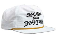 Thrasher Hat White by Slowatch Concept Store