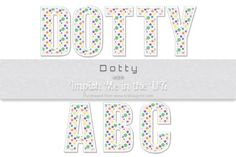 Dotty Upper case  on Craftsuprint #cardmaking #scrapbooking #papercrafts #digiscrap