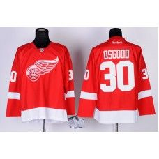 41dcf8315 Reebok Detroit Red Wings  30 Chris Osgood Red Ice Stitched Hockey  Jersey Chris Osgood Jersey