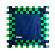 Vintage YVES SAINT LAURENT 1960'S era silk checkered scarf