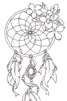 Dream catcher lily tattoo