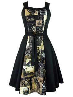 """Women's """"Edgar Allen Poe"""" Full Circle Dress by Hemet (Black)"""