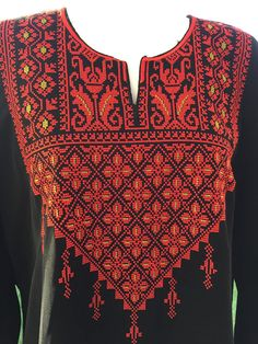 Palestinian Cross Stitch / Embroidery top by PalestinianStitches
