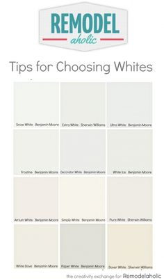 tricks for choosing the best white paint color white paint colors