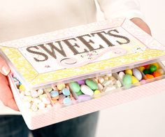 Quick Candy Box  -  Turn a plastic storage container into a personalized treat box.