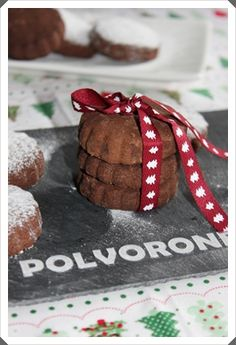POLVORONES DE CHOCOLATE!!