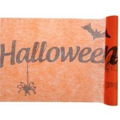 Chemin de table Halloween - déco orange