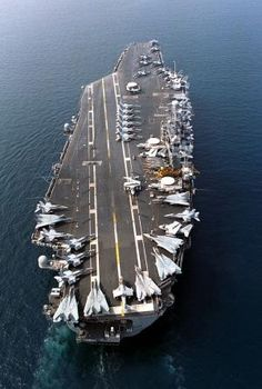 The nuclear powered aircraft carrier USS Nimitz on Oct. 12, 1997. (AP Photo/U.S. Navy)