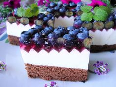 Słodka borówka Cheesecake, Birthday Cake, Desserts, Miami, Food, Kuchen, Tailgate Desserts, Cheese Cakes, Birthday Cakes