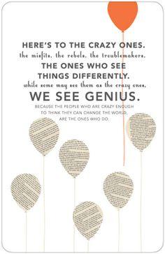 Steve Jobs quote. Brilliantly designed by Rachel Dangerfield
