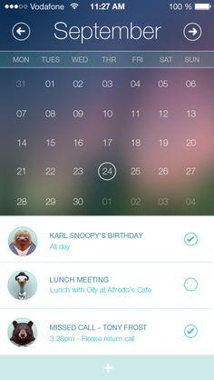 Calendar App by alzer81 (via Creattica)