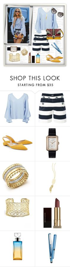 """Why Not?"" by signa2000 ❤ liked on Polyvore featuring Dondup, Dolce&Gabbana, Paul Andrew, Chanel, Bloomingdale's, Kendra Scott, Kevyn Aucoin, Calvin Klein and BaByliss"