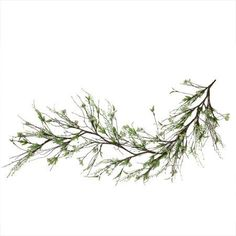 5' Brown and Green Berry Spring Floral Decorative Artificial Garland
