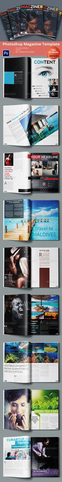 #Multipurpose #Magazine Template - #Photoshop PSD - Magazines #Print #Templates Download here: https://graphicriver.net/item/multipurpose-magazine-template-photoshop-psd/6405338?ref=alena994
