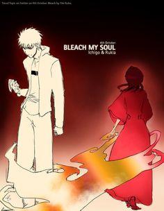 bleach anime ichigo rukia