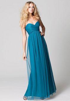 tulle-strapless-sweetheart-column-long-bridesmaid-dress